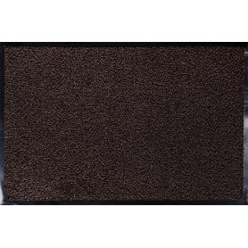 Коврик Fiesta, 60x90 см, полипропилен/резина, цвет коричневый/чёрный