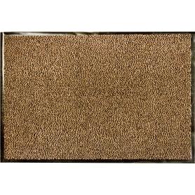 Коврик Fiesta, 90x150 см, полипропилен/резина, цвет коричневый/чёрный