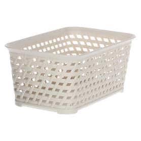 Корзина для хранения «Ротанг», 2.2 л, 24х15х10 см, цвет белый