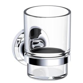 Стакан подвесной для зубных щёток Sensea Elliot, металл/стекло, цвет хром
