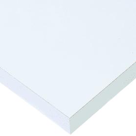 Столешница №1000 120х80х3.8 см, ЛДСП, цвет матовый белый