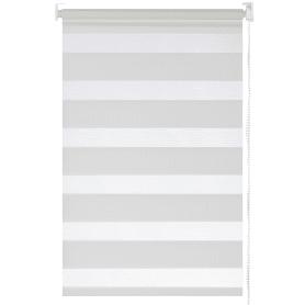 Штора рулонная день-ночь Inspire, 55х160 см, цвет белый