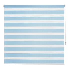 Штора рулонная день-ночь Inspire, 80х160 см, цвет голубой
