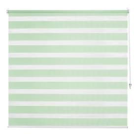 Штора рулонная день-ночь Inspire, 80х160 см, цвет зелёный