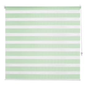 Штора рулонная день-ночь Inspire, 100х160 см, цвет зелёный