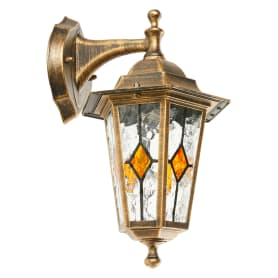 Светильник настенный уличный Inspire Tiffany 60 Вт, цвет золотой