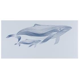Декор «Марис Киты» 30х60 см цвет белый