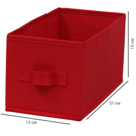 Короб Spaceo Carmen 15х31х15 см 6.9 л полиэстер цвет красный
