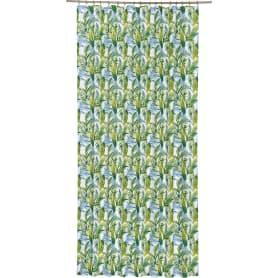 Штора на ленте «Доминикана», 160х260 см, цвет зелёный