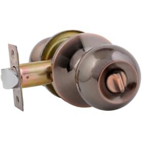Ручка-защёлка Avers 6082-03-AC, с фиксатором, сталь, цвет старая медь