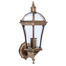 Светильник настенный уличный Capella 60 Вт IP44 цвет чёрное золото