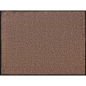 Коврик Fiesta, 90x120 см, полипропилен/ПВХ, цвет коричневый/чёрный
