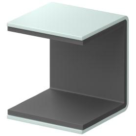 Скоба крепёжная для полки SPACEO KUB Laguna 35 мм металл цвет сизый
