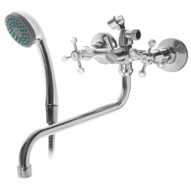 Смеситель для ванны «Cross» универсальный, с душевым набором