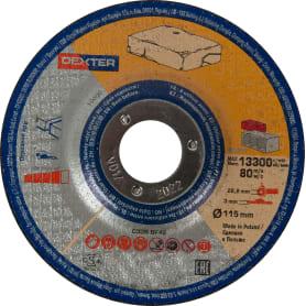 Диск отрезной по камню Dexter, 115x3x22 мм