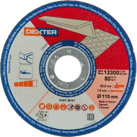 Диск отрезной по алюминию Dexter 115x1.6x22 мм