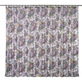 Тюль на ленте «Акварель, цветы», 250х180 см, цвет сиреневый