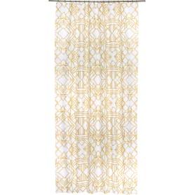 Штора на ленте «Ромбы», 145х260 см, цвет золотой