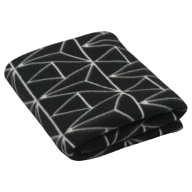 Плед «Vector», 130х170 см, флис, цвет чёрный