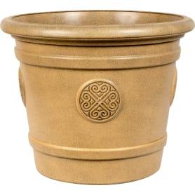 Горшок-кашпо цветочный Тек.А.Тек Medallion ø50 h40 см v40 л пластик коричневый