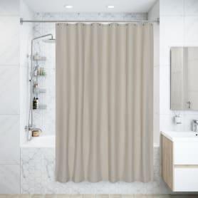 Штора для ванны Naturel, 180х200 см, полиэстер, цвет белый