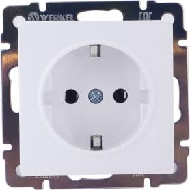 Розетка с заземлением WL01-10-02, цвет белый, 10 шт.