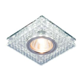 Светильник встраиваемый со светодиодной подсветкой Elektrostandard 8391 MR16, цвет серебристый