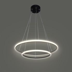 Светильник подвесной светодиодный Вита SMD, 9 м², тёплый белый свет, цвет чёрный