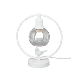 Светильник настольный «Птички» 1хE27х60 Вт металл, цвет белый