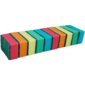 Набор разноцветных губок для мытья посуды «Impact» 8.5х5х2.9 см, 10 шт./уп.