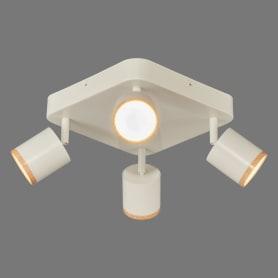 Светильник накладной поворотный Wolta SPOT06-CLL20W-4, 20 Вт, цвет белый/дерево
