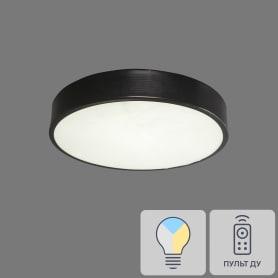 Светильник потолочный светодиодный 48200 230 В 1x36 Вт 14 м² 6400 К регулируемый свет, 30 см, цвет чёрный