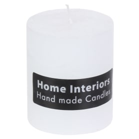 Свеча-столбик «Рустик», 7х8 см, цвет белый