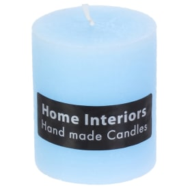 Свеча-столбик «Рустик», 7х8 см, цвет голубой