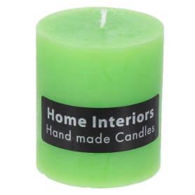 Свеча-столбик «Рустик», 7х8 см, цвет зелёный