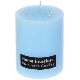 Свеча-столбик «Рустик», 10х12 см, цвет голубой