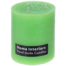 Свеча-столбик «Рустик», 10х12 см, цвет зелёный