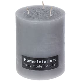 Свеча-столбик «Рустик», 10х12 см, цвет серый