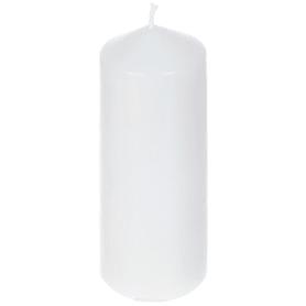 Свеча-столбик, 6х15 см, цвет белый