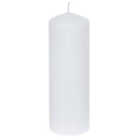 Свеча-столбик, 8х25 см, цвет белый