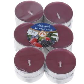 Набор свечей чайных ароматизированных «Лесная ягода», 12 шт.