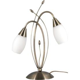 Настольная лампа Ginevra 22080/2 2хЕ14х40 Вт цвет бронза