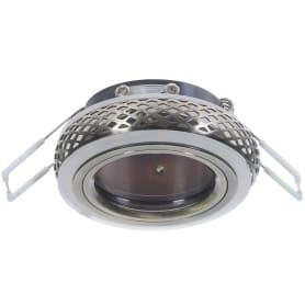 Светильник встраиваемый светодиодный Gauss Backlight BL082 круглый GU 5.3 3 Вт 3000 K цвет хром/белый