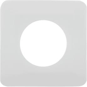 Накладка для розетки №1, 1 пост, цвет белый