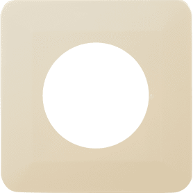Накладка для розетки №1, 1 пост, цвет бежевый