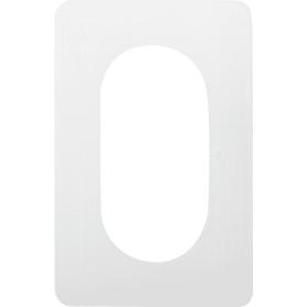 Накладка для розетки №2, 2 поста, цвет прозрачный