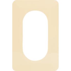 Накладка для розетки №2, 2 поста, цвет бежевый