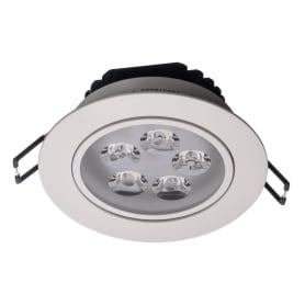 Светильник светодиодный встраиваемый «Круз» 5х1 Вт 220 В IP44 цвет белый