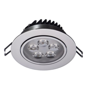 Светильник светодиодный встраиваемый «Круз» 5х1 Вт 220 В IP44 цвет хром
