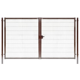 Ворота Medium 1.73x3.5 м цвет коричневый RAL 8017
